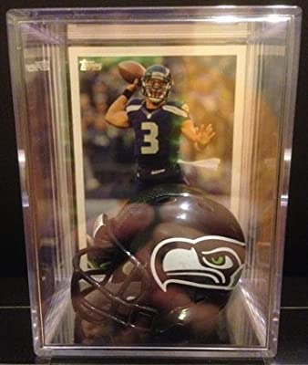 Seattle Seahawks NFL Helmet Shadowbox w/ Russell Wilson card