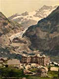 VINTAGE PHOTO LANDSCAPE ALPINE GLACIER GRINDELWALD SWITZERLAND FINE ART PRINT POSTER 30x40cm CC2324