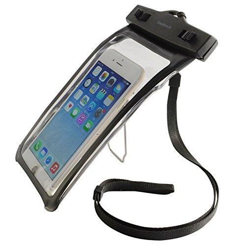オウルテック 防水ケース iPhone6/6Plus等 スマートフォン対応 クリップスタンド機能 ネックストラップ付 ブラック OWL-MAWP09BK