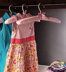 AADYA Padded Satin Hangers, Dresses, Lingerie, Bridal Wear, Pink, Set Of 12