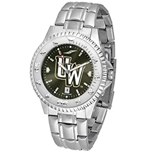 Wyoming Cowboys Competitor AnoChrome Mens Watch with Steel Band by SunTime