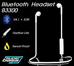 Gadget Hero's Sports Wireless Bluetooth Headset Headphone Earphone For Apple iPhone Samsung & Other Mobile Phone PC Tablet B3300
