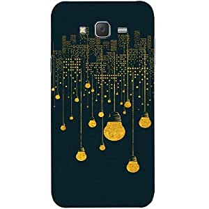 Casotec City Light Pattern Design Hard Back Case Cover for Samsung Galaxy J5