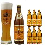 【ドイツ 乾杯セット】 シェッファーホッファー ヘフェ ヴァイツェン 500ml ボトル 6本 + 専用グラス 2個 セット