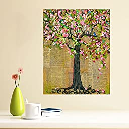 My Wonderful Walls Mixed Media Nature Art Wall Sticker Decal Lexicon Tree of Life by Blenda Tyvoll (M)