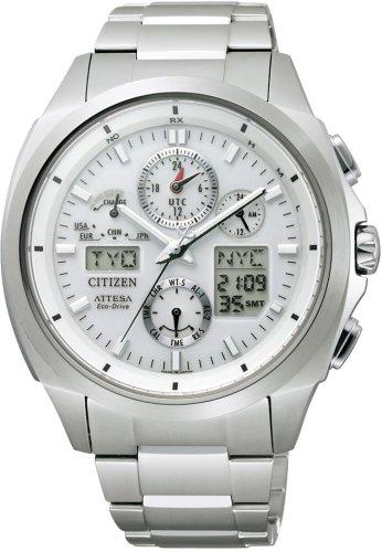 CITIZEN (シチズン) 腕時計 ATTESA アテッサ Eco-Drive エコ・ドライブ 電波時計 ジェットセッターU680 ATV53-3021 メンズ