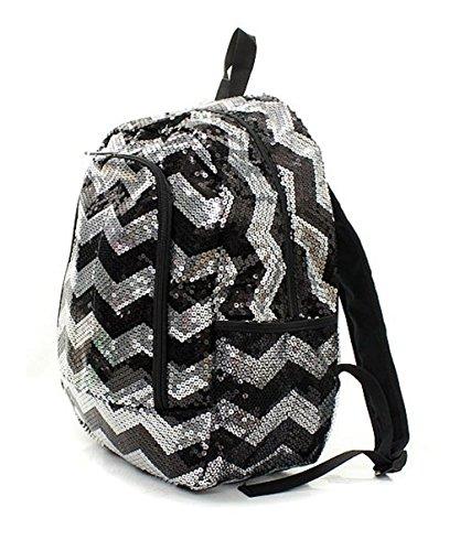 Children's Chevron Sequin Bling School Backpack