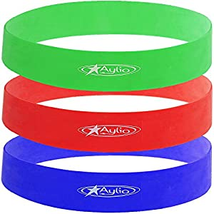 Aylio 3 Loop Fitness Bands Stretch Exercise Set (Light, Medium, Heavy Resistance)