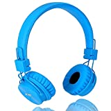 Wired Kids Headphones with Shareport and Microphone by Termichy (Blue)