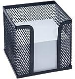 Zettelbox Office, inkl. Papier (92 x 92 mm), Drahtmetall, schwarz