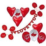 Riethmüller 450005 - Deko Set - I love you, Girlande und 20 Luftballons