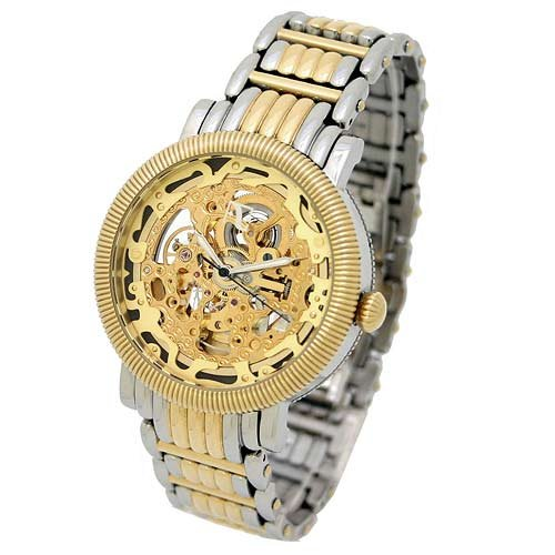 Auguste Galan MECCANIX RARGB Men's Two-tone Mechanical Skeleton Watch. Model AG-0719