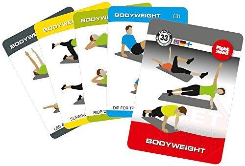 Trainingskarten-Set - Bodyweight / Gymnastikmatte ENG/GER/FIN (org. FightBack Produkt)