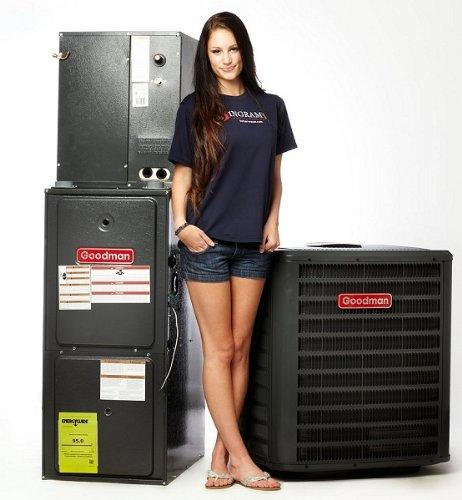 Goodman 16 SEER Complete Split System AC & Gas 4 Ton GSX160481, CHPF4860D6, GMVC950905DX, TXV-48 (16 Seer Ac Unit compare prices)