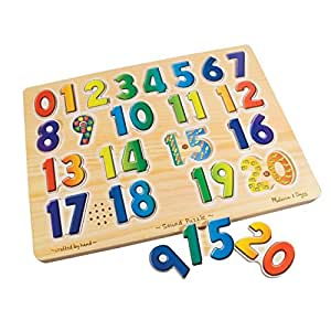 Melissa & Doug Numbers Sound Puzzle; Ages 2 & Up; No. Lci339