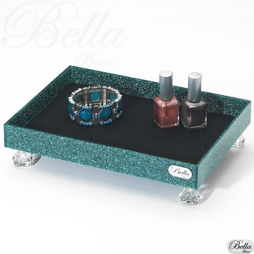 Bellaboxx Tray - Cosmetic/Makeup Organizer - Teal front-61716