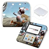 Rayman Raving Rabbids Hard Case Back Cover For Nintendo 2DS + Free Front Skin Sticker #25