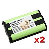 2 x Phone Battery For Panasonic HHR-P104 HHR-P104A New