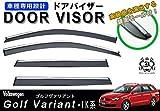 【説明書付】 VW フォルクス ワーゲン ゴルフヴァリアント 1K メッキモール 付き ドアバイザー サイドバイザー /取付金具付