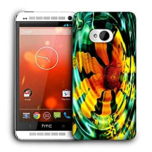Snoogg Echos Silence Patience Grace Printed Protective Phone Back Case Cover For HTC One M7