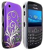 CellBig E- Purple Hard Back Case Cover Pouch Mask Wallet Pocket Holster for Blackberry Curve 8520 9300 3G