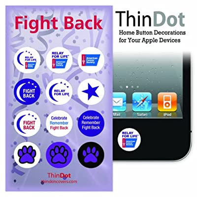 "ThinDot Home Button Stickers ""Fight Back"" for iPhone, iPad and iPod Touch Decal"
