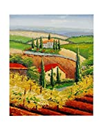 Arte Dal Mondo Pintura al Óleo sobre Lienzo Paesaggio Toscano