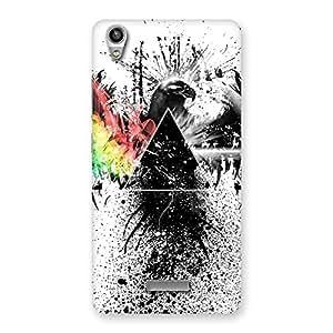 Cute Prism Eagle Multicolor Back Case Cover for Lava-Pixel-V1