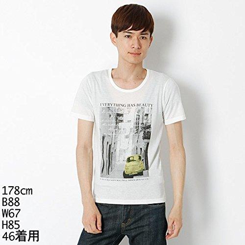MKオム(MK homme) 【アウトレット】Tシャツ(顔料プリントTシャツ)【ホワイト/46/M】