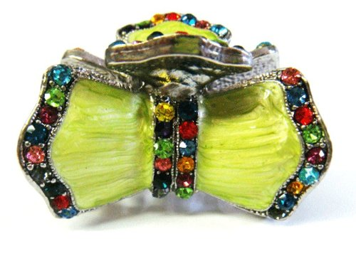 top-quality-womens-rhinestone-epoxy-enamel-metal-claw-hair-clip-antique-silver-6-colors-multi