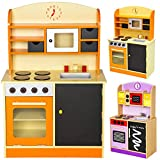TecTake Cocina de madera de juguete para ni�os juguete juego de rol toy naranja