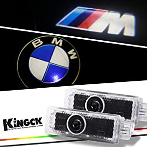 Kingck Bmw 1 Min Easy Installation No Drilling No Wiring High Definition Car Door Courtesy Light Ghost Shadow Light Logo Projector Door Step Light Pack Of 2 by KingCK