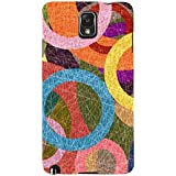 For Samsung Galaxy Note 3 :: Samsung Galaxy Note III :: Samsung Galaxy Note 3 N9002 :: Samsung Galaxy Note N9000 N9005 Circle Pattern ( Circle Pattern, Circle, Circular Pattern, Pattern ) Printed Designer Back Case Cover By FashionCops