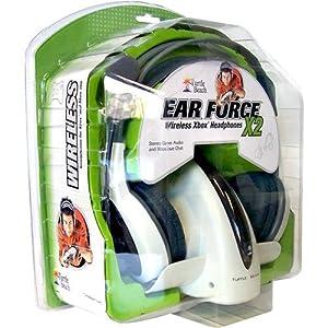 Xbox 360 EarForce X2 Wireless Headset Headphones (for Xbox, PC also)