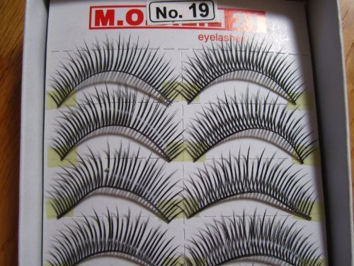 Model 21 High End No. 12,13,14,15,16,17,18,19 or 20 False Fake Eyelashes 10 Pairs by Model 21