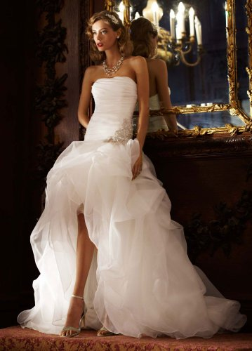 David's Bridal Wedding Dress: Organza and Tulle