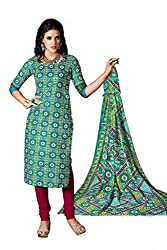 CHINTANTEXTILES Ethnicwear Women's Dress Material(Blue_Free Size)