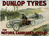 Dunlop Tyres - For Motors, Carriages, Cycles - Mini Metal Wall Sign
