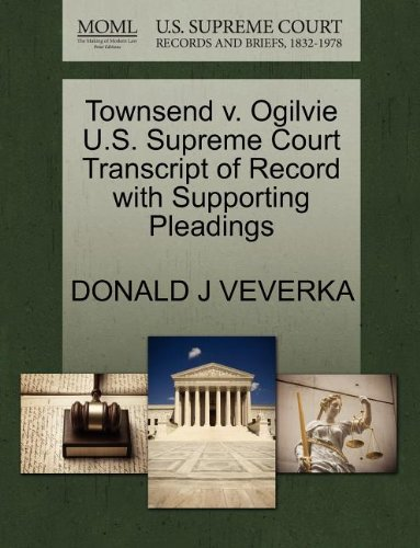 Townsend v. Ogilvie U.S. Supreme Court Transcript of Record with Supporting Pleadings