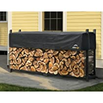 ShelterLogic Ultra Duty Firewood Rack with Cover, 8-Feet