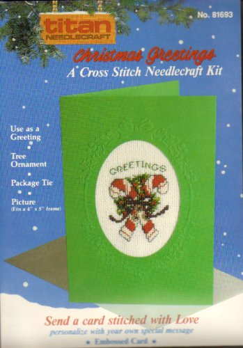 Christmas Grettings : A Cross Stitch Needlecraft Kit #81693