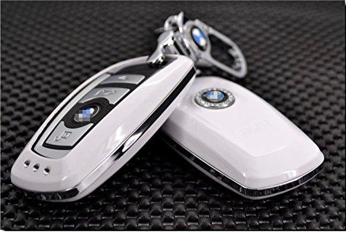 BMWエンブレム 高級スマートキーケース1 3 5系、GT、6系、7系 白色