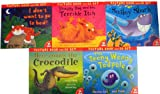 Various 5 Best-selling Picture Books and Cds Set RRP £39.95(Smiley Shark, Shaggy Dog and the Terrible Itch, The Teeny Weeny Tadpole, Here comes the Crocodile, I don't want to go to bed)