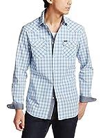 Diesel Camisa Hombre Sulfura (Cielo / Blanco)