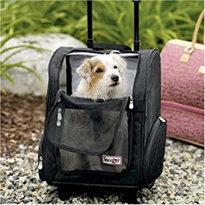Snoozer Roll Around Pet Carrier - Medium/Black SN-86210 by Snoozer