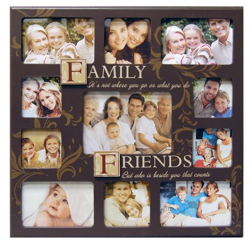 new view familyfriends sentiment stamp collage frame