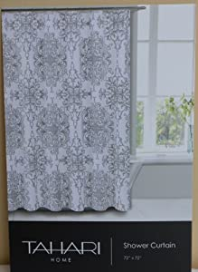 Amazon Com Tahari Shower Curtain 72 Quot X 72 Quot Gray