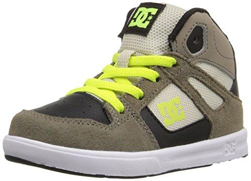 DC Rebound UL High Top Skate Shoe (Toddler), Taupe, 9 M US Toddler
