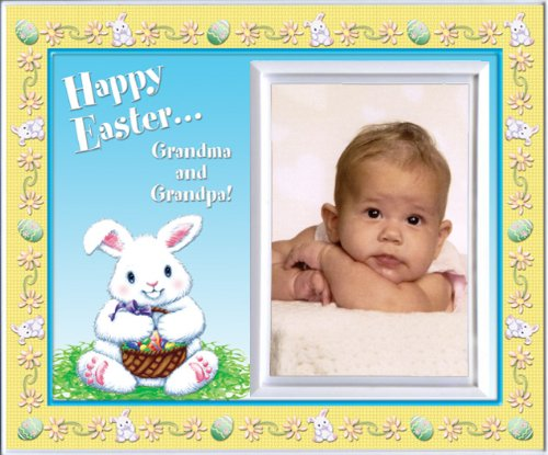 Happy Easter Grandma & Grandpa - Picture Frame Gift - 1