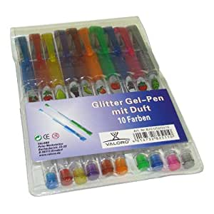 Gel-Pen Glitter mit Duft 10er